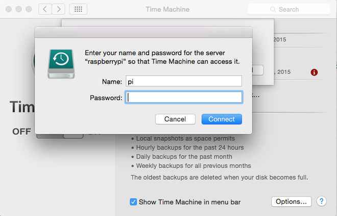 Time Machine Login